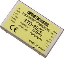 New STD-302Z Multi-Channel Transceiver is Suitable for Remote Control Applications