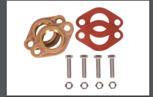 New Red Rubber Meter Flange Kits are Made from Lead Free Rubber
