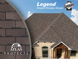 New Legend Designer Fiberglass Shingles Come with Scotchgard Protector