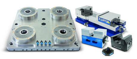 Kurt Workholding to Feature DX4™ CrossOver® Vise, Pneumatic Zero-Point Clamping System and Five Axis Holding Solutions at IMTS 2018