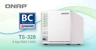 QNAP TS-328 3-bay NAS Receives 2018 COMPUTEX Best Choice Award