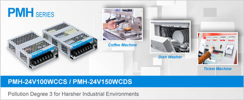 Latest PMH Series Power Supplies Meet Pollution Degree 3 Standards at up to 5000 m Operating Altitudes