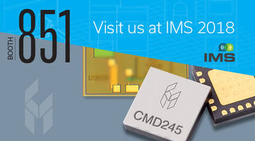 New CMD283C3 Ultra Low Noise Amplifier Offers an Output IP3 of +26dBm