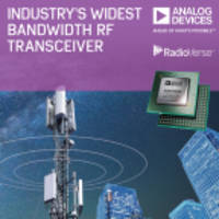 Latest ADRV9009 RF Transceiver Offers a Bandwidth of 200 MHz