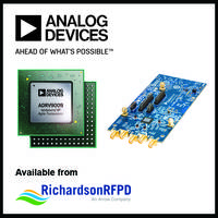 Latest ADRV9009 RF Transceiver from Analog Devices, Inc. Offers 75 MHz to 6 GHz Tunable Frequencies