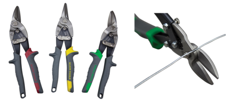 New Aviation Snips with Wire Cutter Features Serrated and Forged Steel Blades