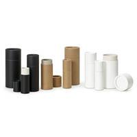 Qosmedix's New Recycleable Paperboard Tubes are Available in Black, White and Natural Colors