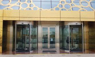 Automatic Revolving Doors Provide Impressive Entry for Iconic Dubai Frame
