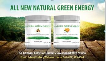 Natural Green Energy Powder Consists of Proprietary Energy Blend