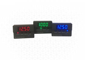 New DCM20 Series DC Panel Meters Allow Selection of 16 Different Current Readings