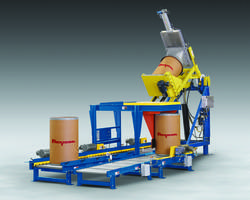 New TIP-TITE Drum Dumping System Automatically Rolls Drums Containing Bulk Material into Position