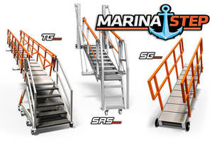 New MarinaStep Safe Access Gangways are Constructed from Marine Grade Aluminum, Galvanized or Stainless Steel