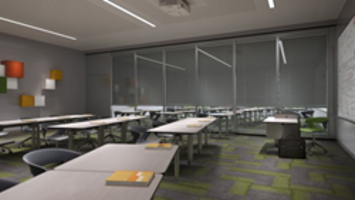New Acousti-Clear Protector Series Safety Systems Feature Motorized Blinds