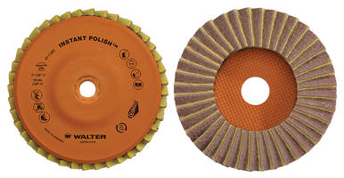 Walter Technologies Introduces New Flap Discs for Polishing and Finishing Applications