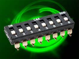 New SDB DIP Switches are Offered in Low-Profiles for Space Saving on PCB Layouts