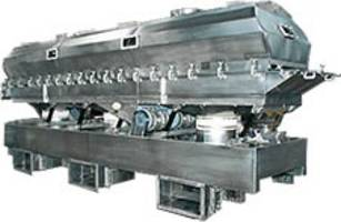 Fluid Bed Dryers Feature Unitary, Steel Bases That Accommodate Auxiliary Equipment for Easy Process Integration