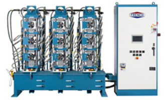 Latest Three Press Hydraulic System is Offered with One Central Press Controller