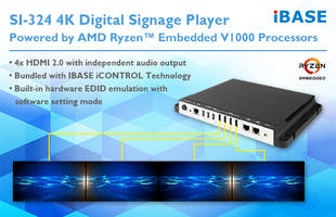Latest SI-324 4K Digital Signage Player Comes with Built-In Hardware EDID Emulation