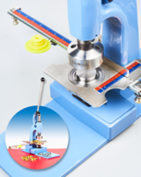 New ClipsShop CSBUR-1 Grommet Press is Coupled with Large GrommetSniper and Adapter