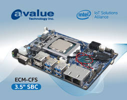 New Signal Board Computer From Avalue Is Based on Intel 8th Generation Core i7/i5/i3 and Celeron Processors