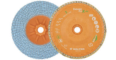 Walter Introduces Enduro-Flex ALU Flap Discs with Zirconia Alumina Grain Blend