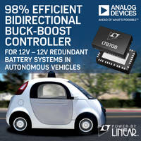 Analog Devices Presents Linear LT8708/-1 Regulator Controller with Six Independent Forms of Regulation