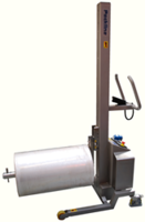 Packline Materials Handling Introduces New Single Spindle Attachment with Rollers for Handling Heavy Film and Foil Rolls