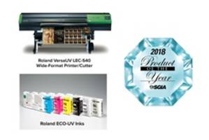 Roland DGA Wins Two SGIA 2018 Product of the Year Awards