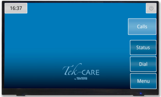 New Touchscreen Tek-CARE Monitor by TekTone Allows Staff to View and Interact with Calls