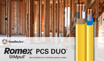 New Romex Brand SIMpull NM-B-PCS Duo Cables Feature Continuous Stripe on the Outer Jacket