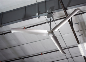 New Direct Drive HVLS Fan Directs Air Outwards from the Center in Conical Shape
