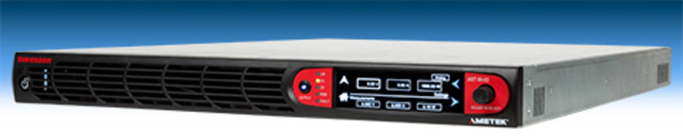 Ametek Offers Asterion DC Series Power Supplies with Auto-Paralleling Capability