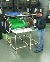 New CRE-605 Workstation Can Be Configured as Stand-Up or Sit-Down Station