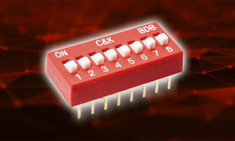 C&K Launches BDB DIP Switches That are Rated for 10,000 Make-and-Break Cycles Per Switch Position
