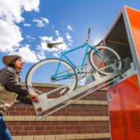 Dero Presents Bike Locker and Metal Head That Improves Bike Storage