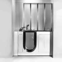 New Tempered Glass Walk-In Tub Screen Comes with Inward and Backward Swinging Doors