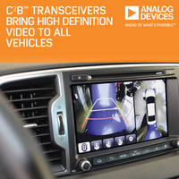 Analog Devices Launches New Transceiver Series with Car Camera Bus Technology