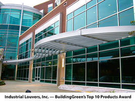 Industrial Louvers, Inc.'S Painted Sunshades Receive BuildingGreen's Top 10 Products Award For 2019
