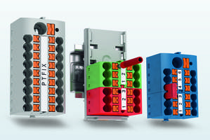 Phoenix Contact Introduces the PTFIX Distribution Blocks to Minimize Need for Tools and Accessories