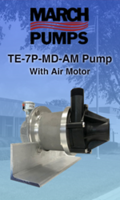 New TE-7P-MD-AM Air Motor Pump Allows for Variable Speed