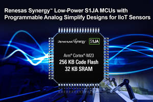 Renesas Introduces S1JA Microcontrollers Featuring AES Cryptography Accelerator