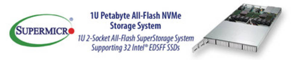 Supermicro Introduces New 1U NVMe Systems in EDSFF Form Factor