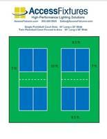 New Pickleball Court Lighting Packages are L70 Rated at 200,000 hrs