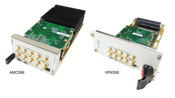 VadaTech Introduces AMC598 and VPX598 Boards with Sample Rates Up to 3 GSPS