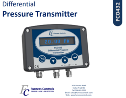 New FCO432 Differential Pressure Transmitter is Equipped with Two Configurable Relays