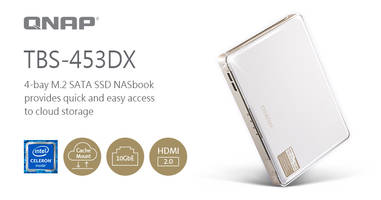New TBS-453DX NASbook is Designed for Small Working Spaces and Mobile Workers