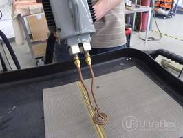 UltraFlex using a Handheld Induction Heater to Braze Steel Mesh Belts