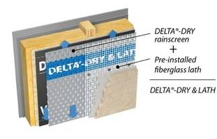 New Delta-Dry and Lath 2-in-1 Rainscreen Solution for Dorken Systems For Stucco and Manufactured Stone Homes