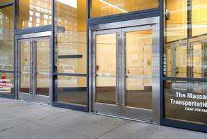 Two Dozen Ellison Custom Balanced Doors Revive Boston's State Transportation Building