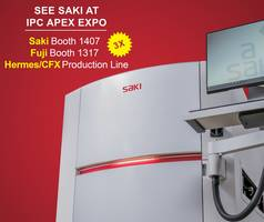 Saki Demonstrates 3D SPI, AOI, AXI, and 2D Bottom-Side AOI at IPC APEX Expo Booth 1407